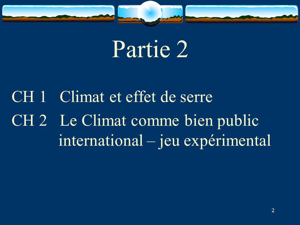 Partie 2 CH 1 Climat et effet de serre