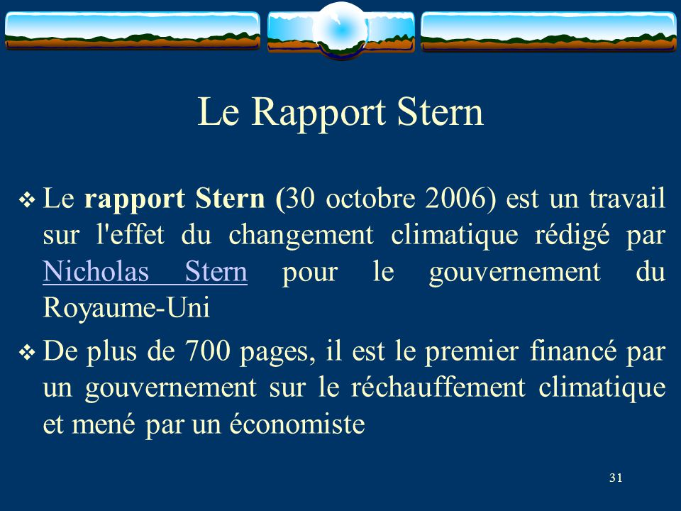Le Rapport Stern