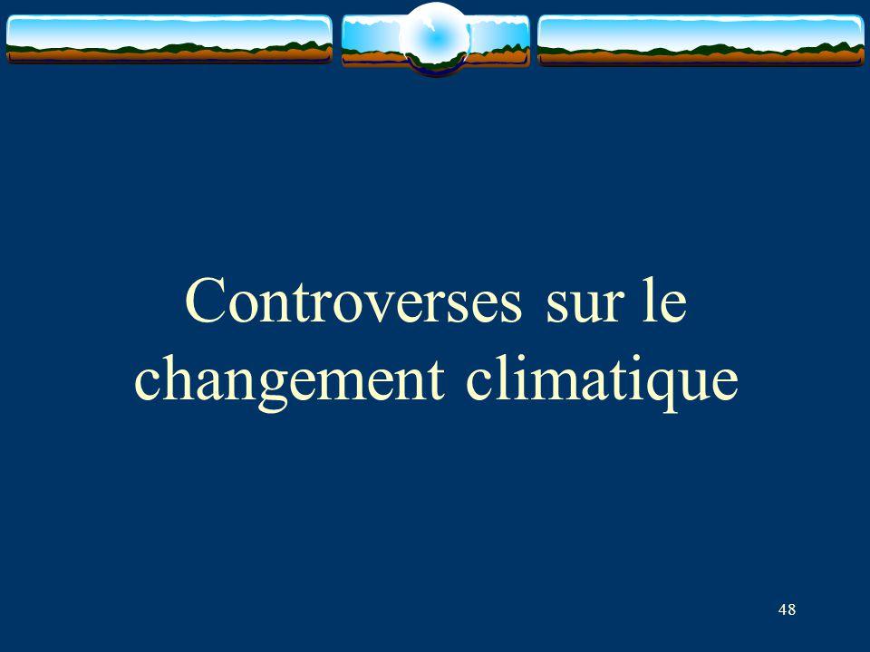 Controverses sur le changement climatique