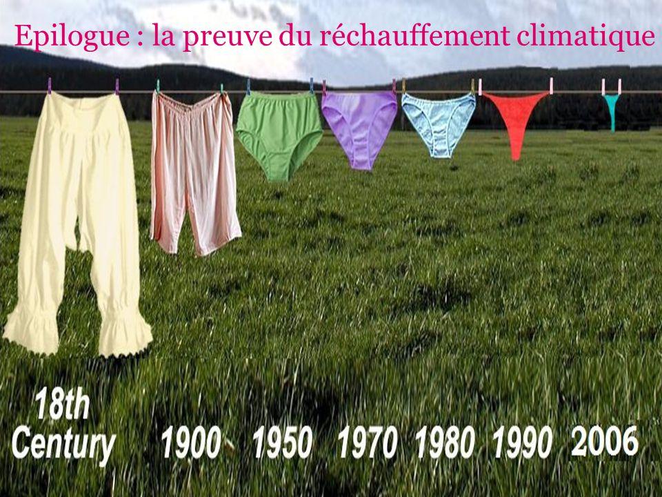 Epilogue : la preuve du réchauffement climatique