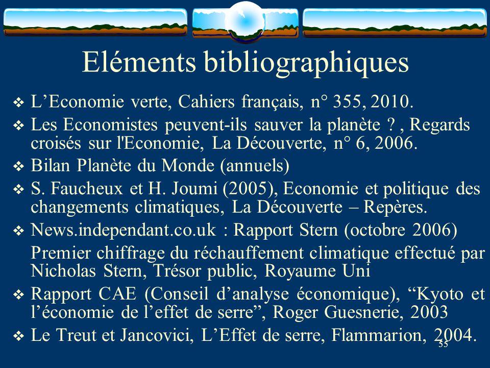 Eléments bibliographiques