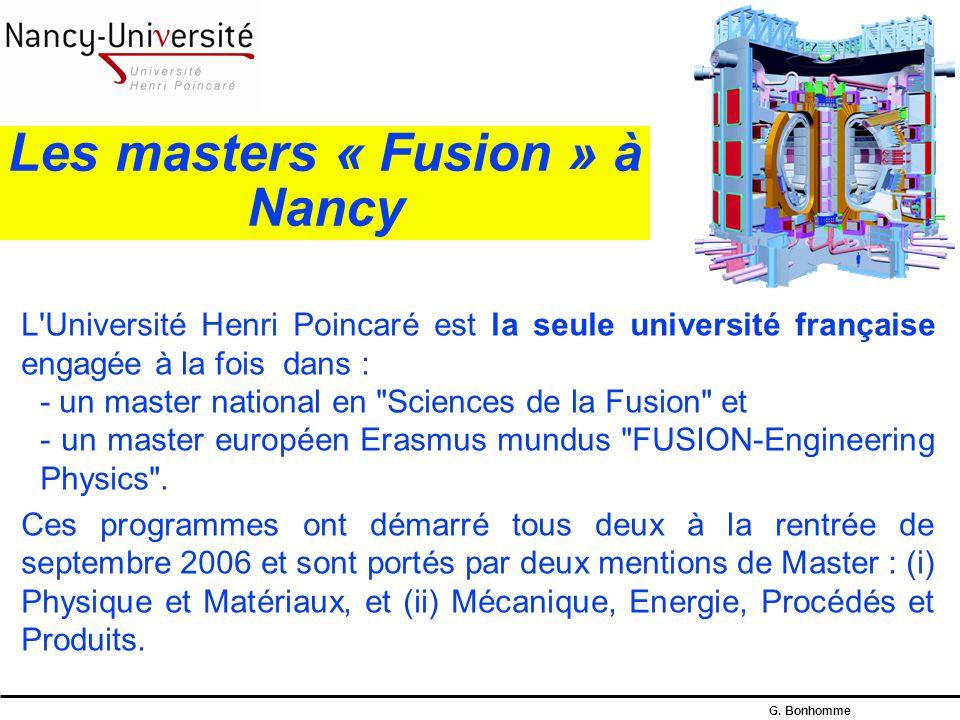 Les masters « Fusion » à Nancy