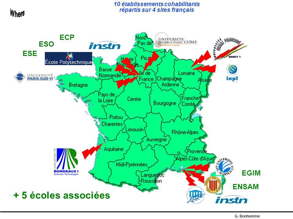 10 établissements cohabilitants répartis sur 4 sites français