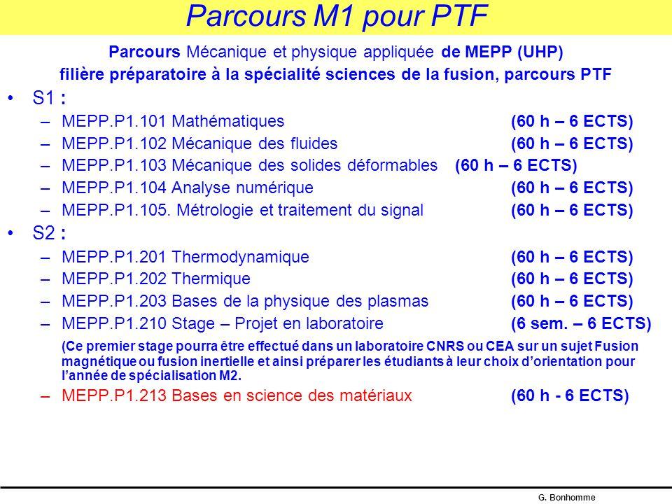 Parcours Mécanique et physique appliquée de MEPP (UHP)