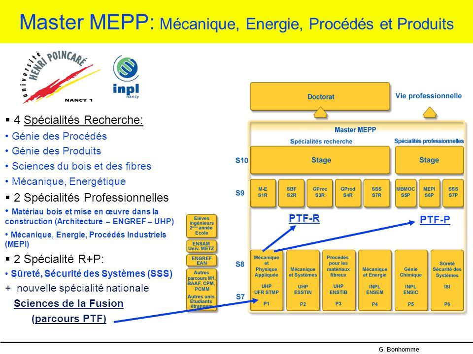 Master MEPP: Mécanique, Energie, Procédés et Produits