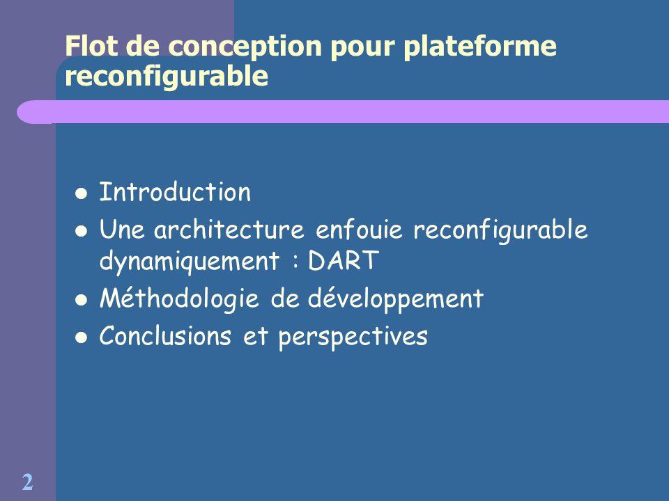 Flot de conception pour plateforme reconfigurable
