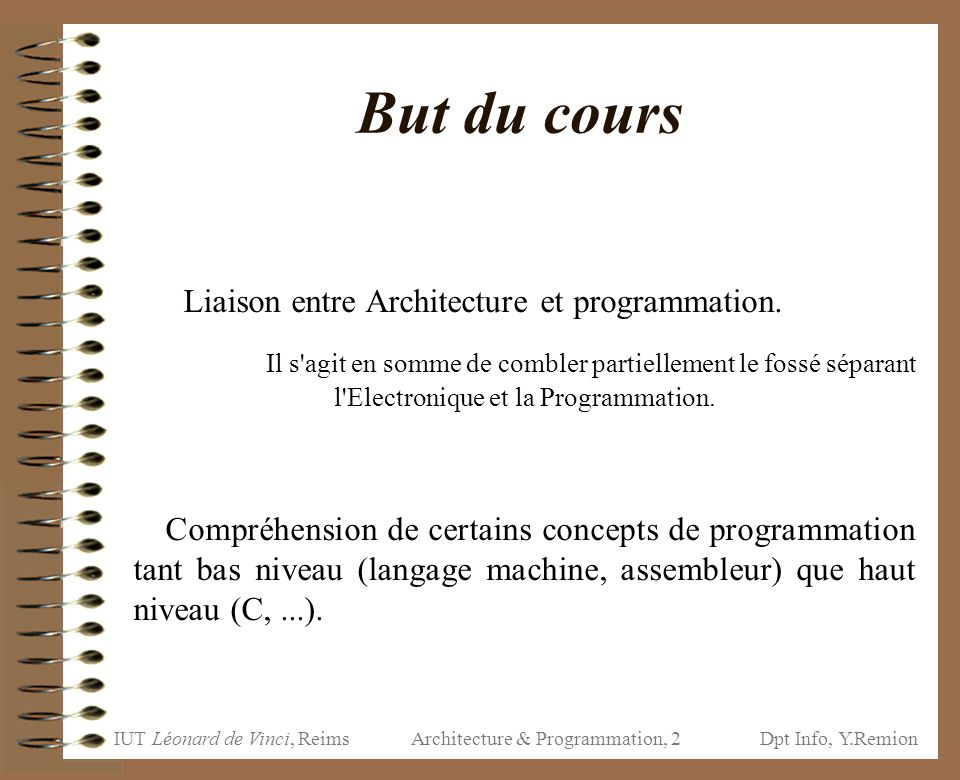 Architecture & Programmation, 2