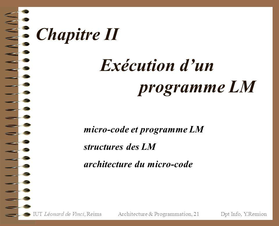 Chapitre II Exécution d'un programme LM