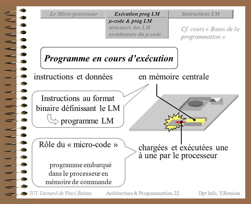 Programme en cours d'exécution
