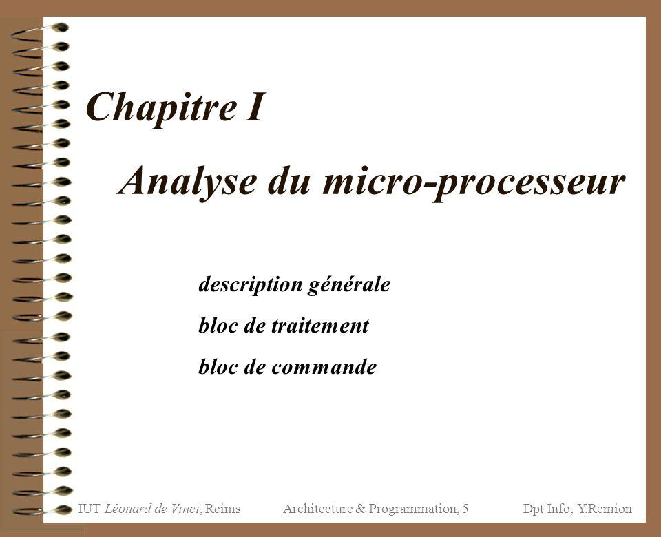 Chapitre I Analyse du micro-processeur