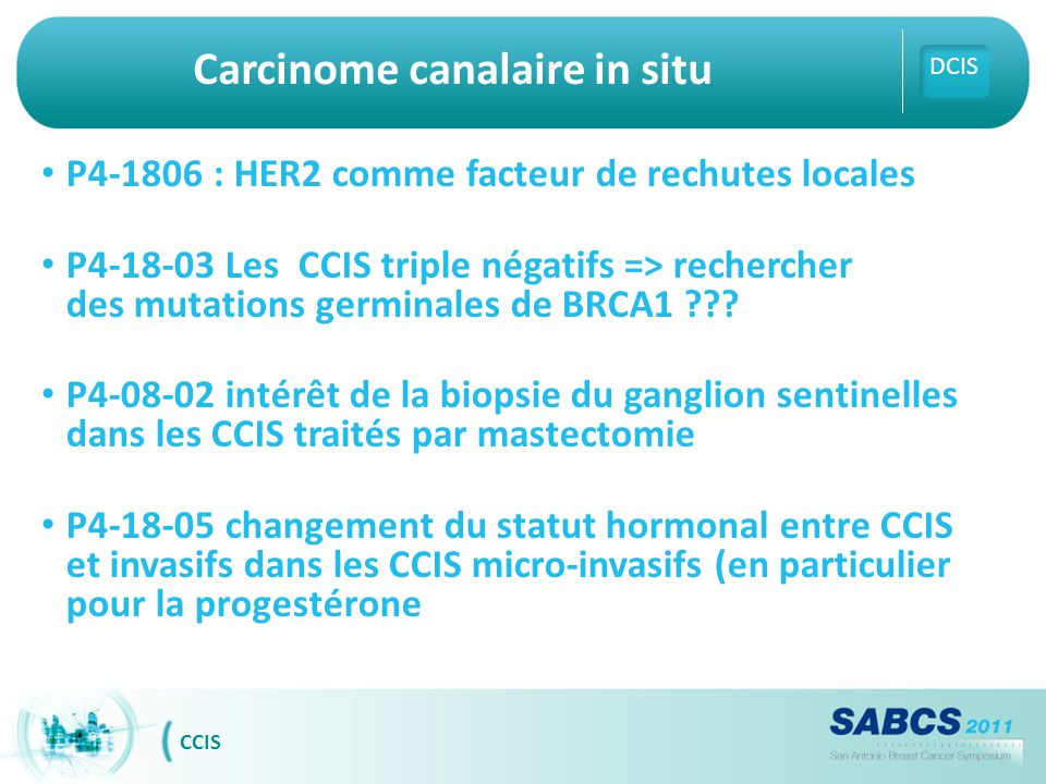 Carcinome canalaire in situ