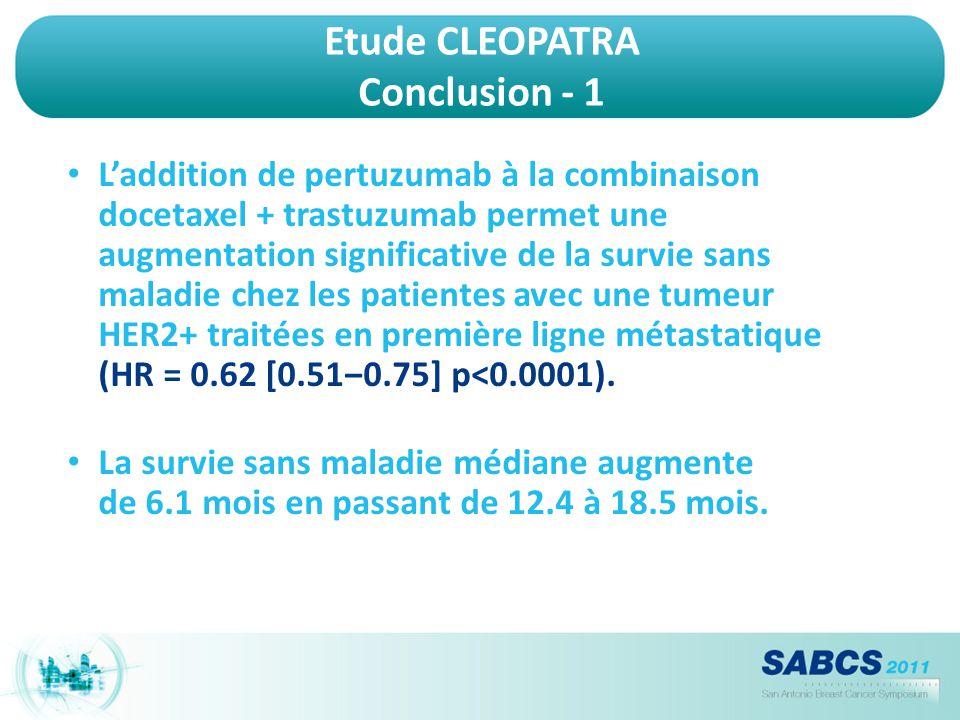 Etude CLEOPATRA Conclusion - 1