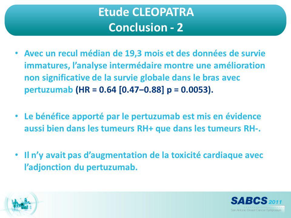 Etude CLEOPATRA Conclusion - 2