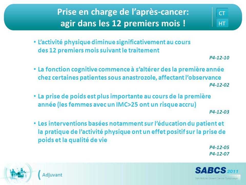 Prise en charge de l'après-cancer: agir dans les 12 premiers mois !
