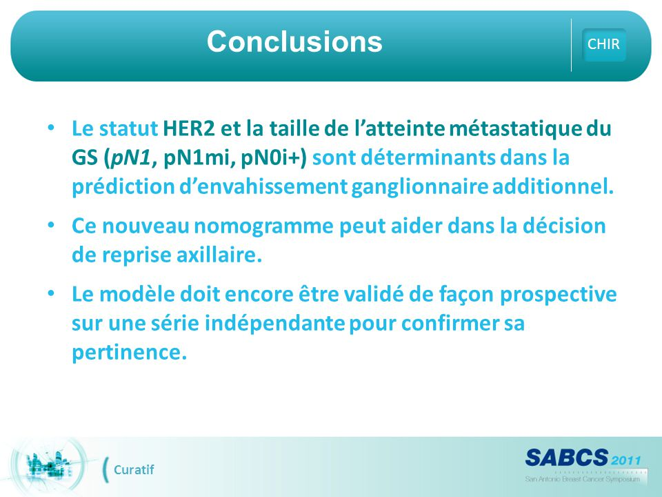 Conclusions CHIR.