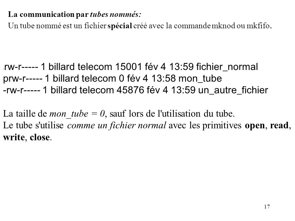 prw-r----- 1 billard telecom 0 fév 4 13:58 mon_tube
