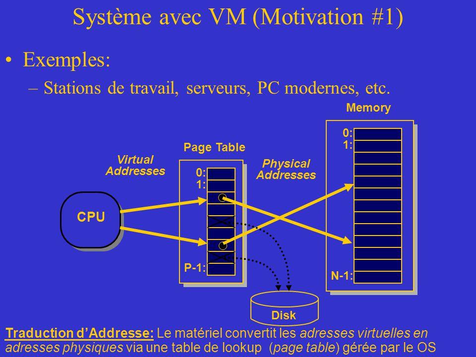Système avec VM (Motivation #1)