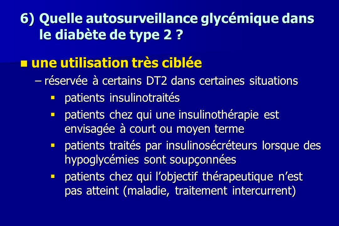 6) Quelle autosurveillance glycémique dans le diabète de type 2