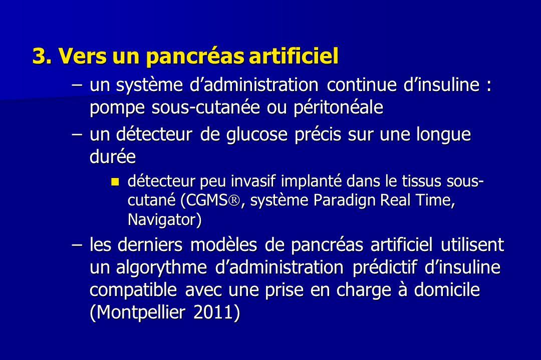 3. Vers un pancréas artificiel