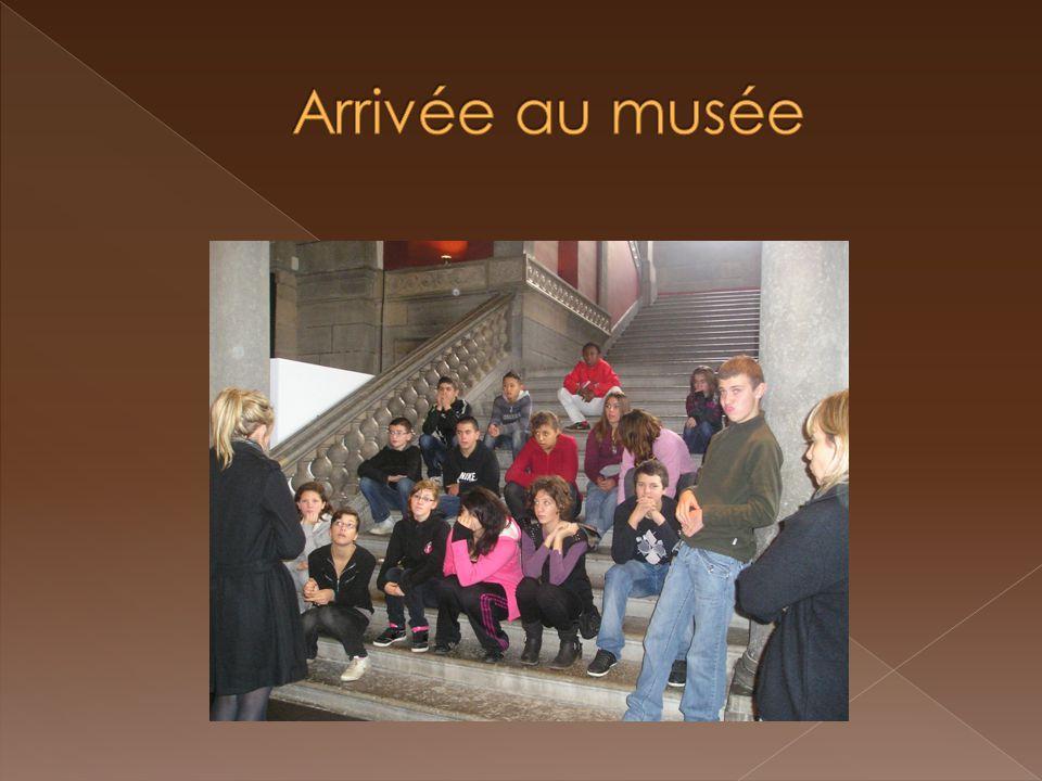 Arrivée au musée