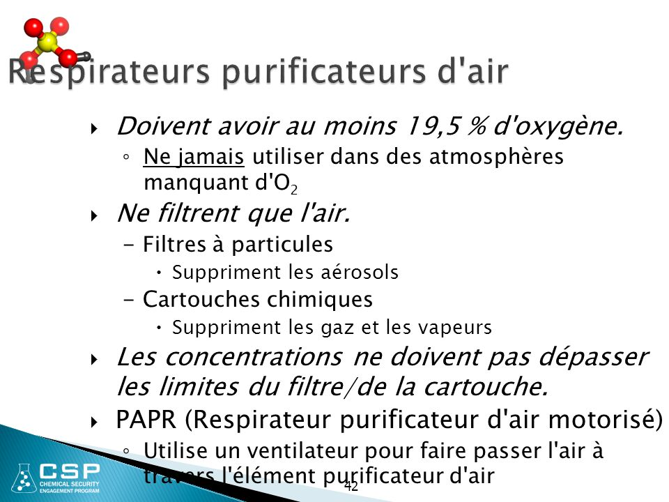 Respirateurs purificateurs d air