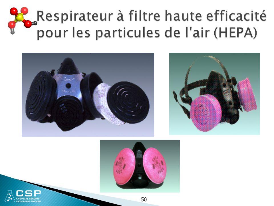 Respirateur à filtre haute efficacité pour les particules de l air (HEPA)