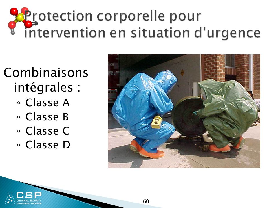 Protection corporelle pour intervention en situation d urgence