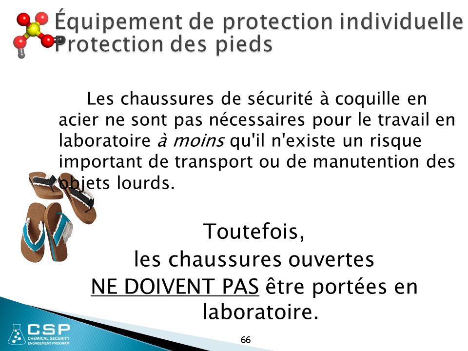 Équipement de protection individuelle Protection des pieds
