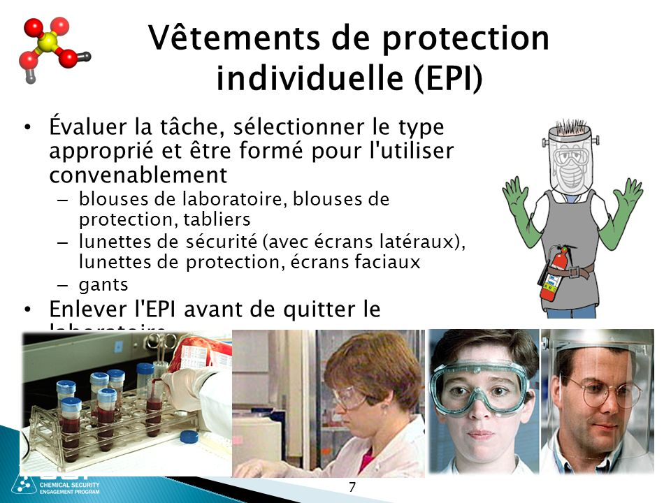 Vêtements de protection individuelle (EPI)