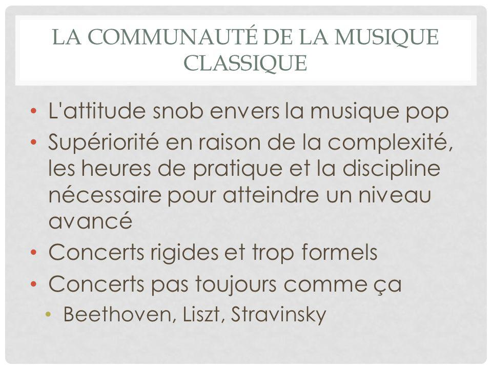 La communauté de la musique classique