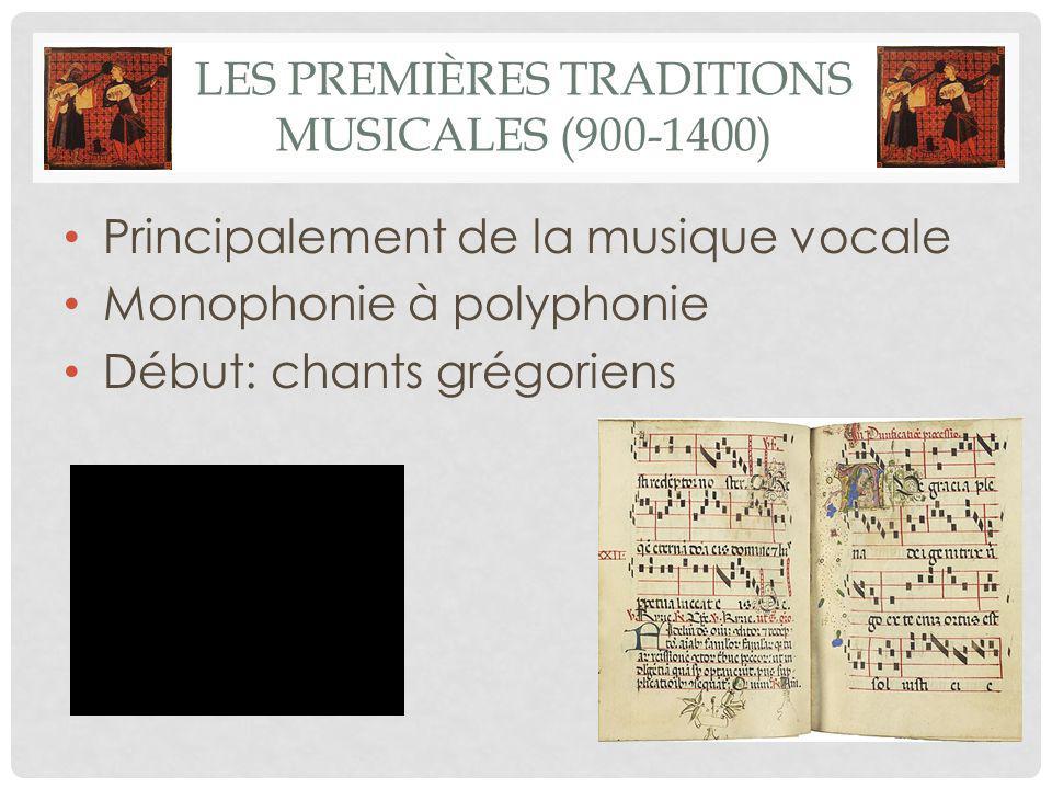 Les premières traditions musicales (900-1400)