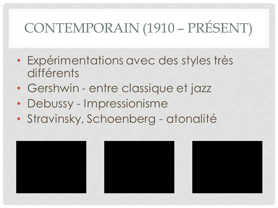 Contemporain (1910 – présent)