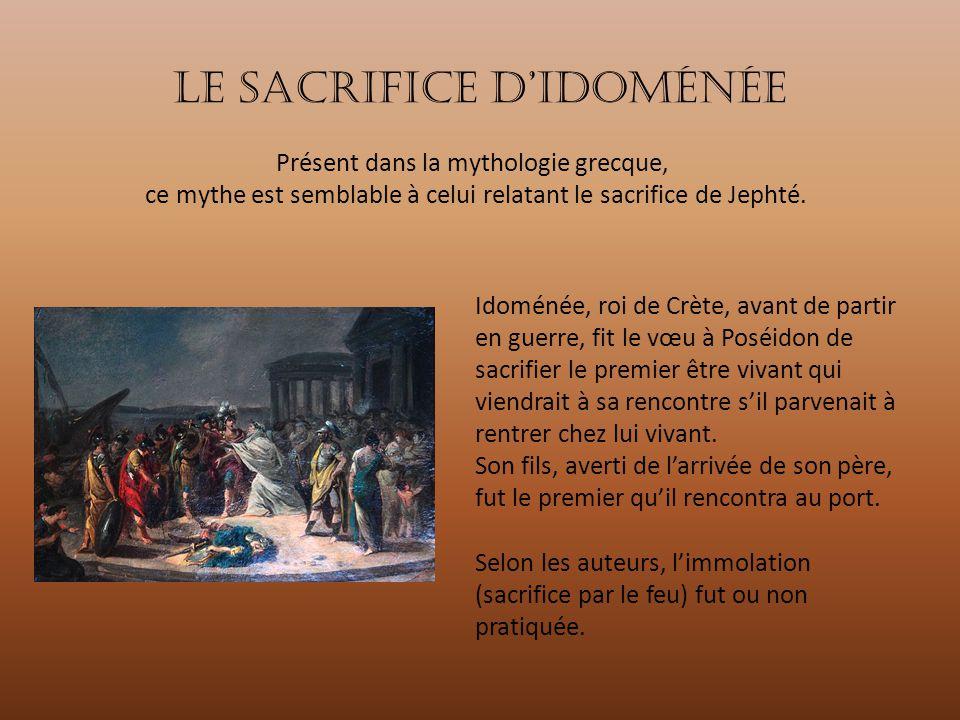 Le sacrifice D'idoménée