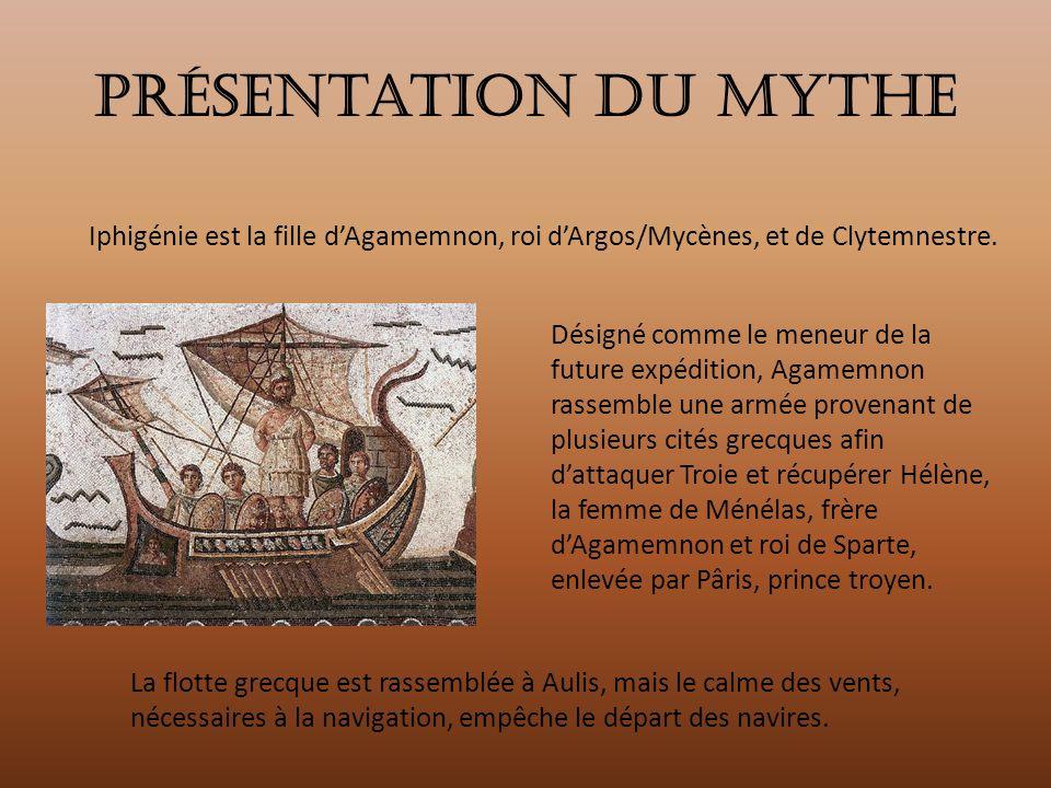 Présentation du mythe Iphigénie est la fille d'Agamemnon, roi d'Argos/Mycènes, et de Clytemnestre.