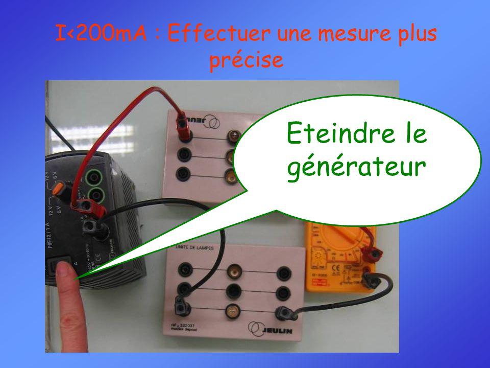 Eteindre le générateur