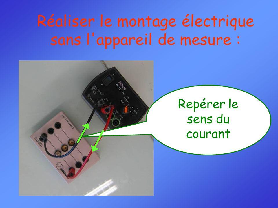 Réaliser le montage électrique sans l appareil de mesure :