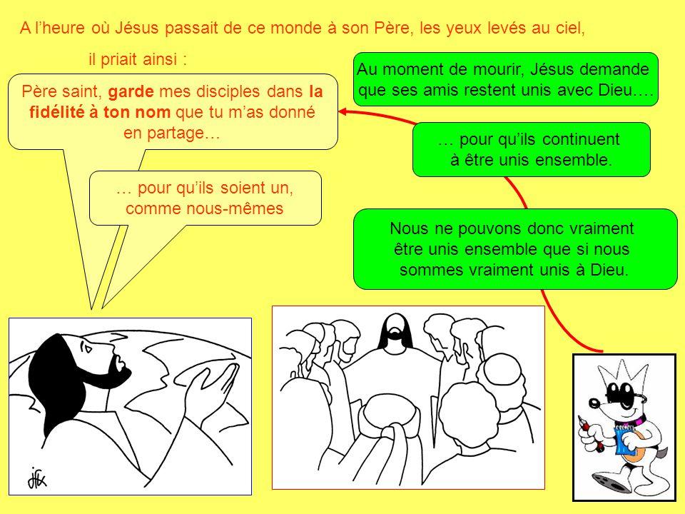Au moment de mourir, Jésus demande