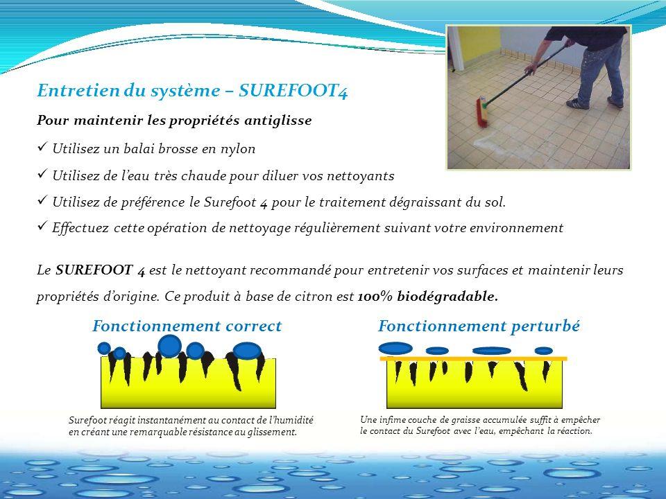 Entretien du système – SUREFOOT4