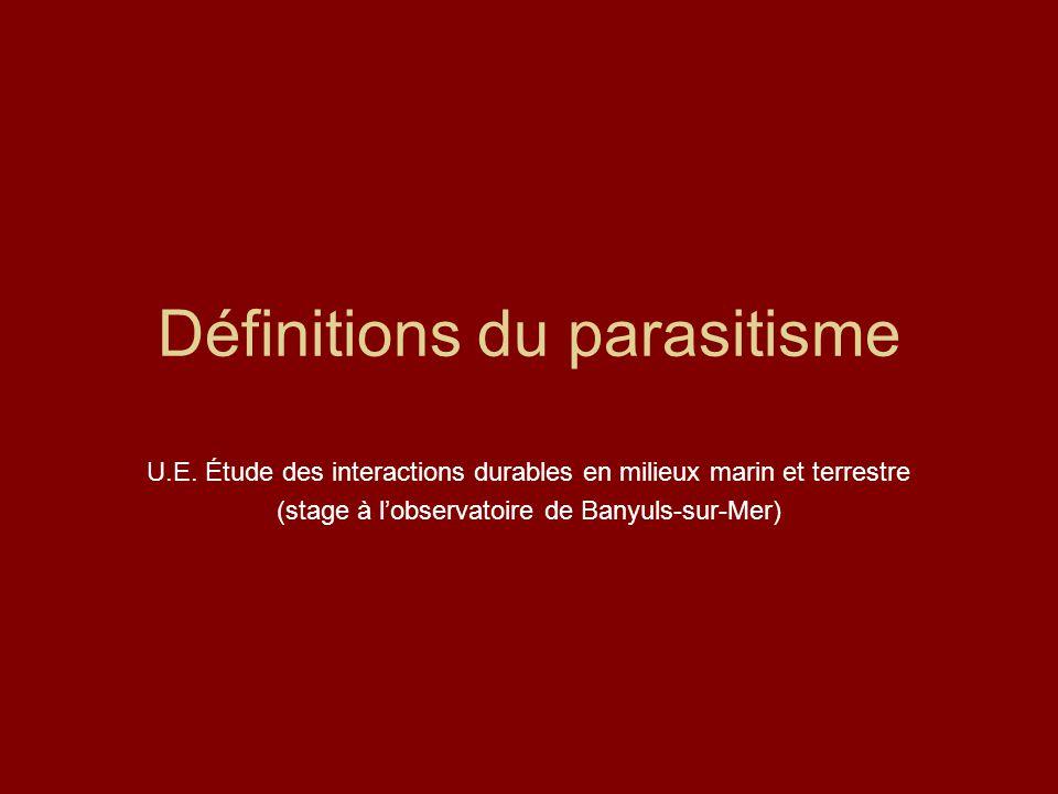 Définitions du parasitisme