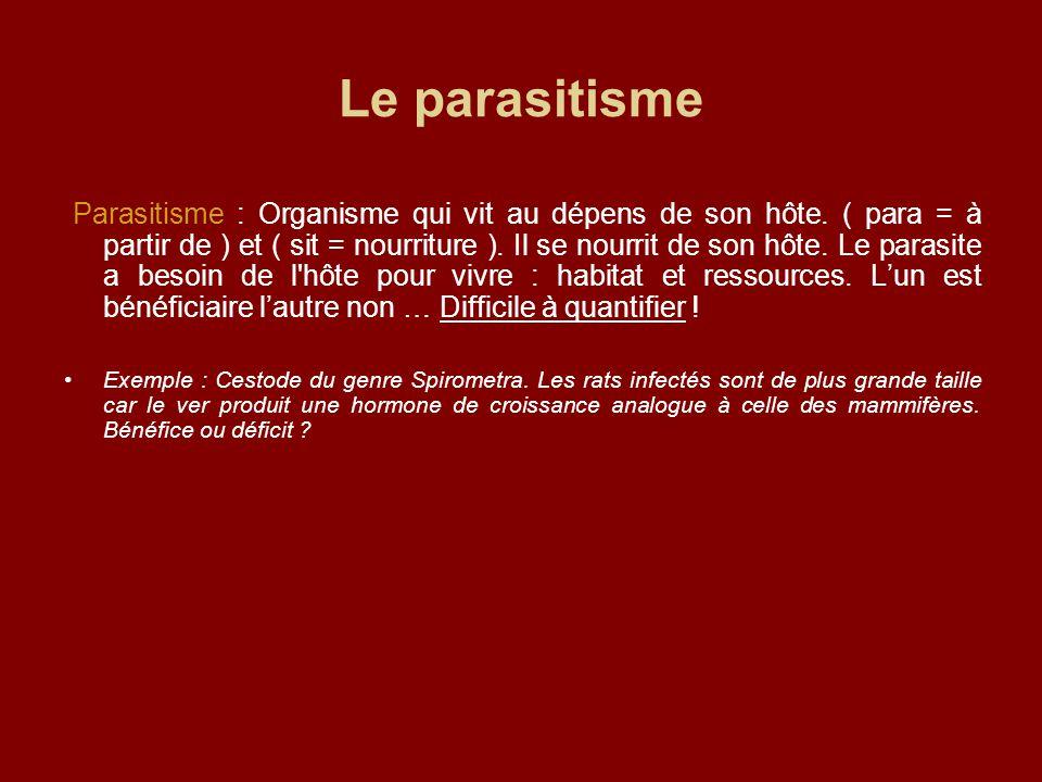 Le parasitisme