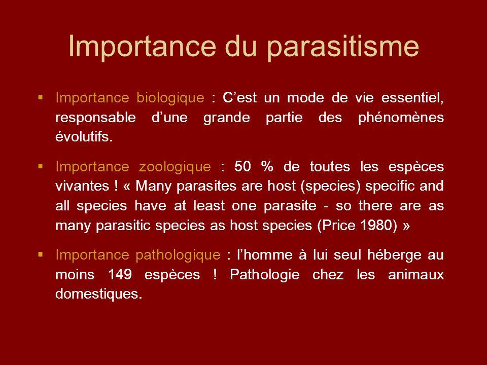 Importance du parasitisme