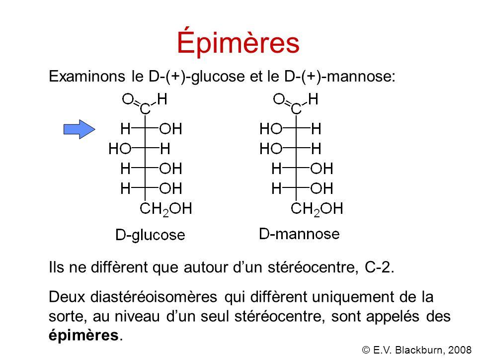 Épimères Examinons le D-(+)-glucose et le D-(+)-mannose: