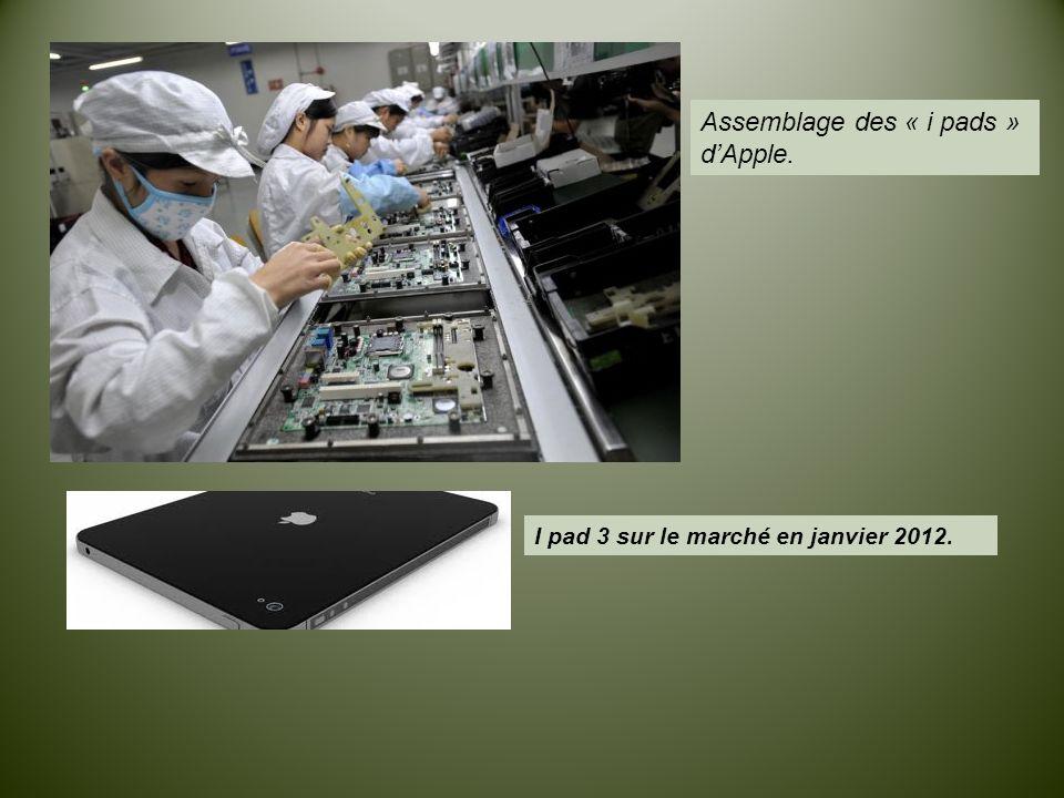 Assemblage des « i pads » d'Apple.