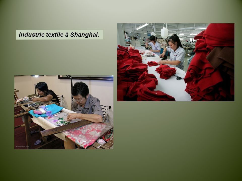Industrie textile à Shanghai.