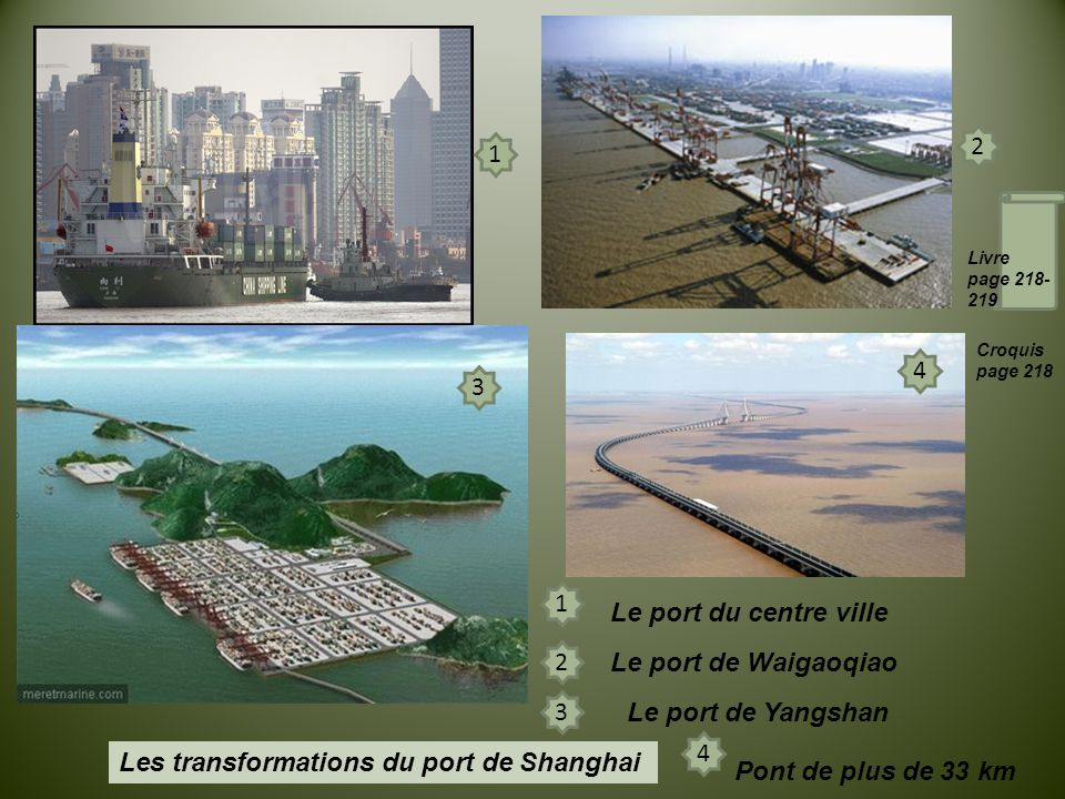 Les transformations du port de Shanghai Pont de plus de 33 km