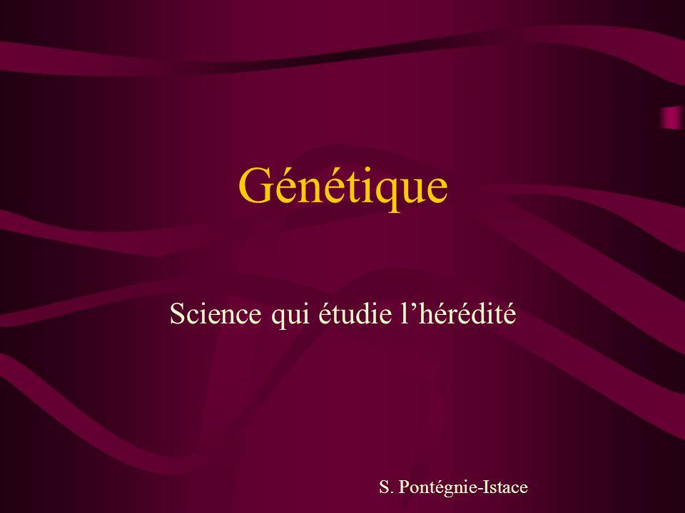 Science qui étudie l'hérédité