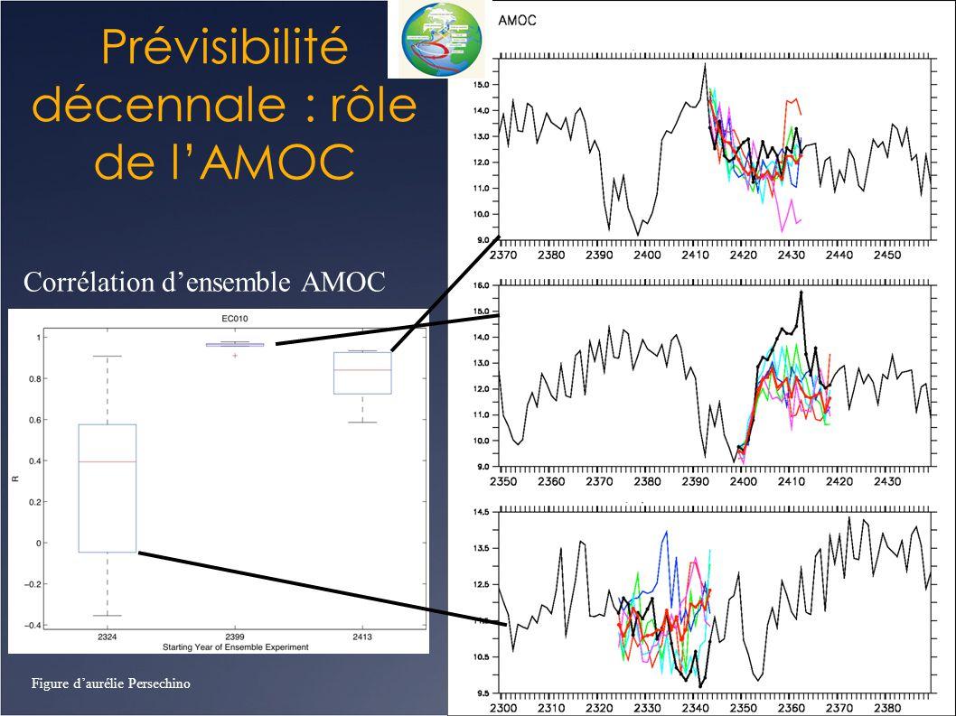 Prévisibilité décennale : rôle de l'AMOC