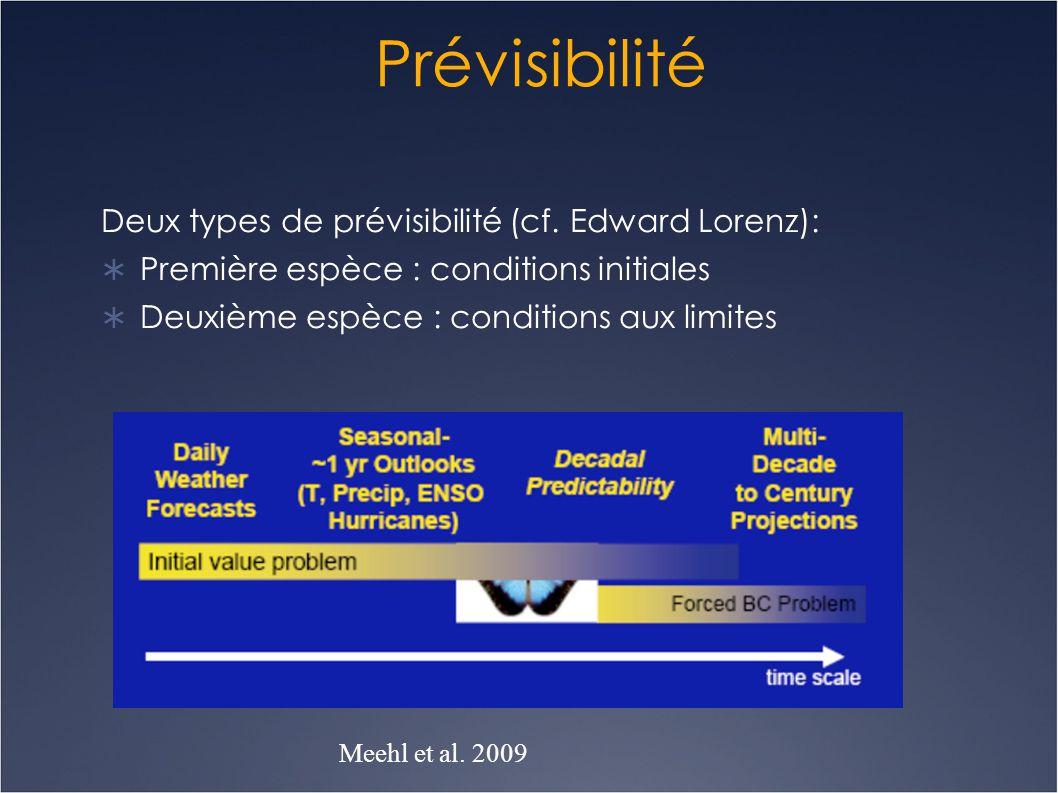 Prévisibilité Deux types de prévisibilité (cf. Edward Lorenz):
