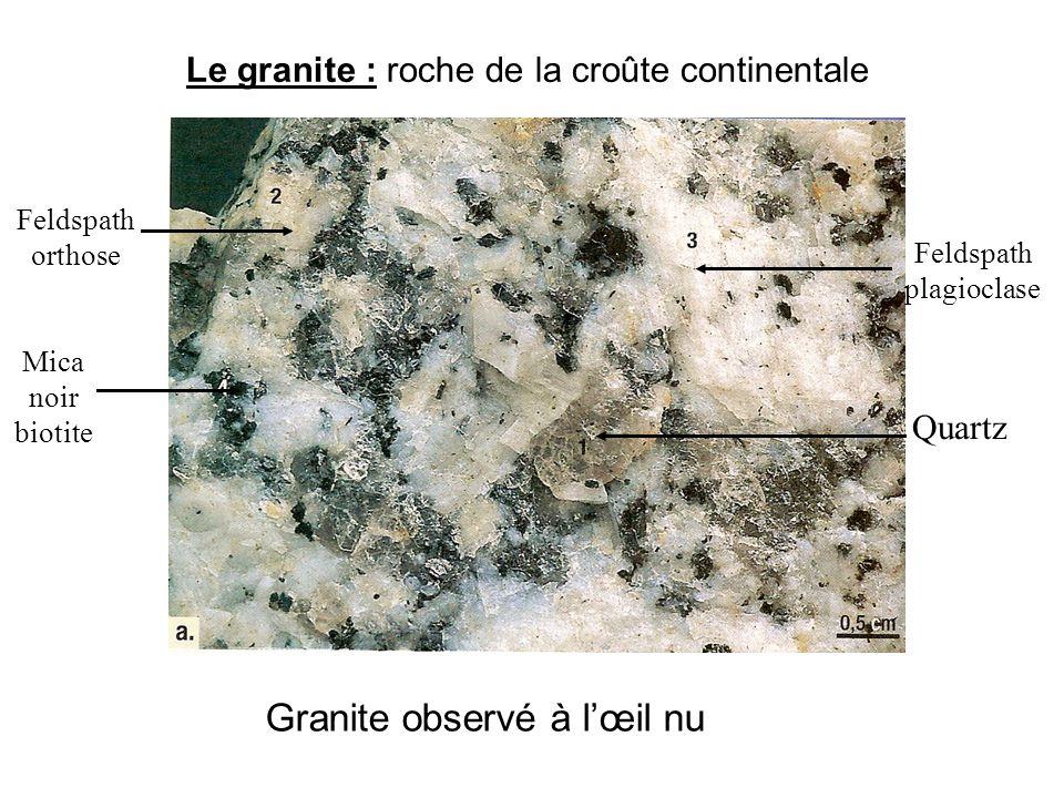 Granite observé à l'œil nu