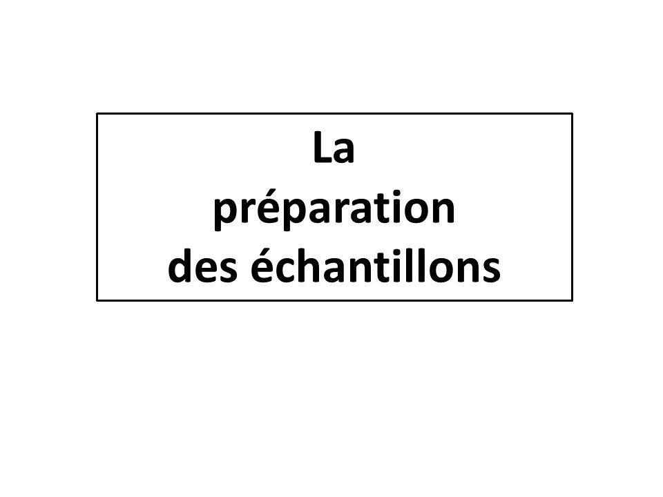 La préparation des échantillons